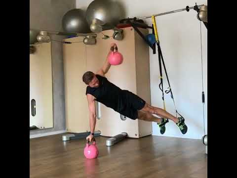 Raphael Jesse from Trainingslager : Core exercise with Kettlebell and TRX