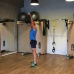 Raphael Jesse from Das Trainingslager: Exercise with sandbag