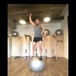 Raphael Jesse from Das Trainingslager : Balance exercise