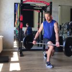 Raphael Jesse from Das Trainingslager: barbell exercises